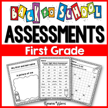 Back to School Assessments (First Grade)