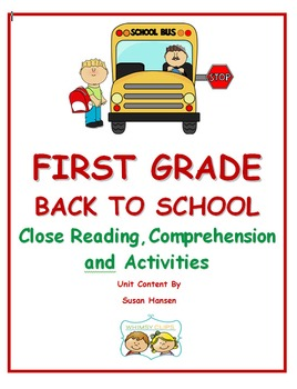 Close Reading and Comprehension: School Days