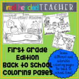 Back to School First Grade Coloring