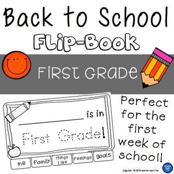 Back to School - First Grade - Flip-Book