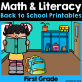 Back to School Math & Literacy Printables {1st Grade}