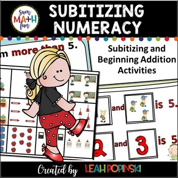 Beginning of Year First Grade Numeracy Sorting Mats Subitizing