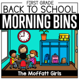 Back to School First Grade Morning Tubs / Bins (Morning Work)