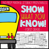 First Day of School/Back to School First Grade (No Prep) Printables