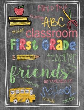 Back to School First Grade Teacher's Gift