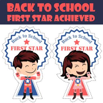 Back to School First Star Achievement