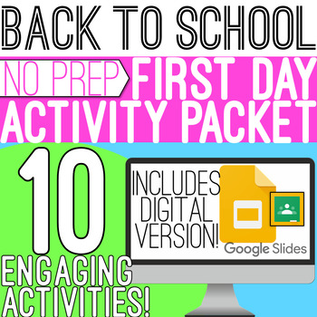 Back to School: First Week Activities!