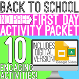 Back to School: First Day Packet - Digital Version Included