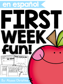 Back to School Activities and Printables IN SPANISH