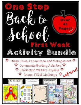 Back to School First Week Bundle: Writing, Math, STEM, Community Building & More