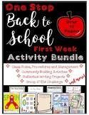Back to School First Week Bundle: Writing, STEM, Community