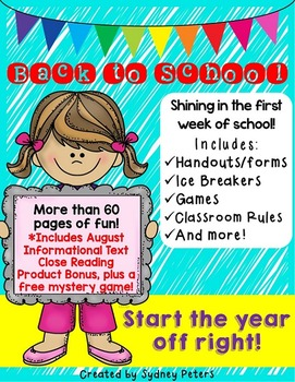Back to School - First Week BUNDLE - Includes Freebie!