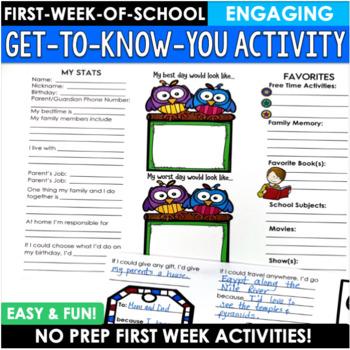 Back to School Activity First Week Brochure