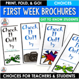 Back to School Activity First Week Brochure