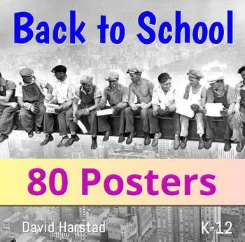 Back to School - Classroom Decor | 80 USA Posters (K-12)