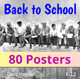 Back to School - Classroom Decor | 80 USA Posters (K-12)