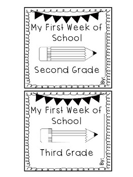 Back to School(First Week of School) Bag Book