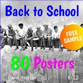 "FREE - Back to School Poster - Classroom Decor | ""Lincoln Memorial"" (K-12)"