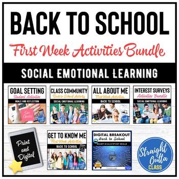 First Day of School Activities Bundle