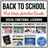 Back to School First Week Activities Bundle Middle School   Google Classroom
