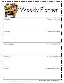 Back to School! First week activities and forms for starting the year