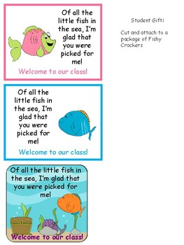 Back to School Fish Crackers Gift Tag