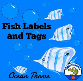 Back to School Labels and Tags - Fish Theme