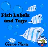 Back to School Labels and Tags - Fish or Ocean Theme