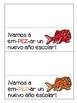 Back to School Bilingual Fish Snack Signs