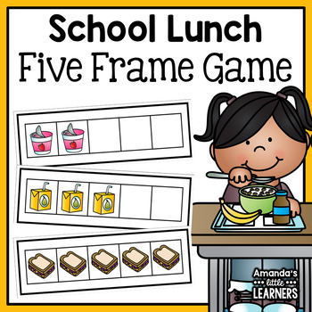 Back to School Five Frame Game by Amanda\'s Little Learners | TpT