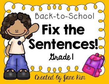 Fix The Sentences-Back-to-School