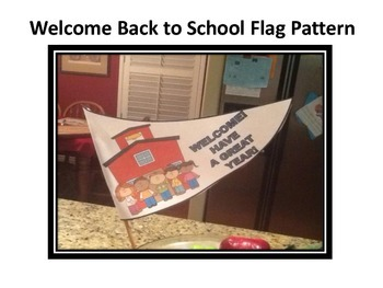Back to School Flag Pattern