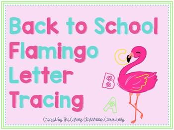Back to School Flamingo Tracing Activity
