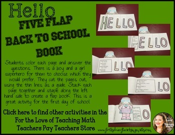Back to School Flap Book