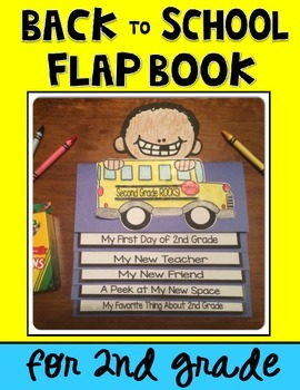 Back to School Flap Book Keepsake for 2ND GRADE