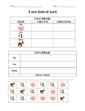 Farm Animal Sort: Use tally marks, graphs, and grouping!