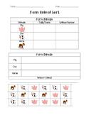 Farm Animal Sort: Use tally marks, graphs, and grouping!