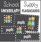 Back to School -  Word Wall Cards, ESL Flashcards, Word Cards, Posters