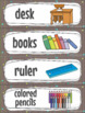 School Supplies Flash Cards, Wordcards, Posters