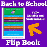 Back to School Flip Book | Editable Flip Book | Customizable Flip Book