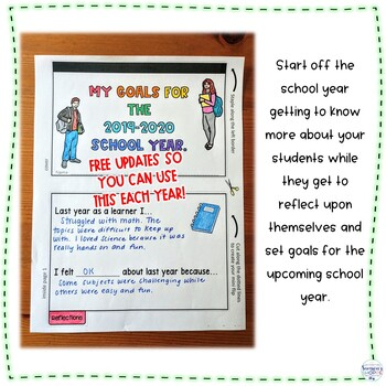 Back to School Goal Setting Digital and Printable Flip Book Activity