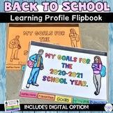 Back to School Goal Setting Digital and Printable Flip Boo