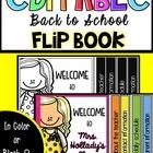 Back to School Flip Book [EDITABLE] #christmasinjuly 48 hour sale