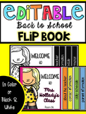 Back to School Flip Book [EDITABLE]
