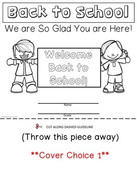 Back to School Flipbook: First Day of School Activity