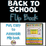 Back to School Flip Book: First Day of School Activity