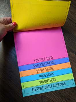 Back to School Flip Book - Fully Editable! For students or parents!