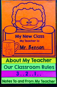 Back to School Flip Book - Getting to Know You (Male Teacher)