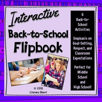 Back to School Flip Book - Interactive (Grades 7, 8, 9, 10)