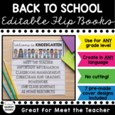 EDITABLE Back to School Flip Book! Meet the Teacher Template